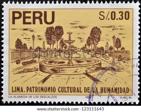 peru   circa 1992  a stamp...