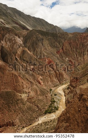 Peru, Cotahuasi canyon. The wolds deepest canyon. The canyon also shelters several remote traditional rural settlements.