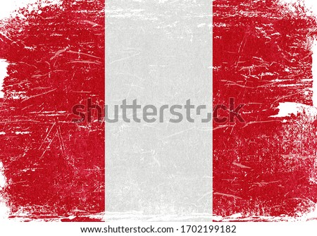 Peru, Peru Flag, Peru Flag Background, Grunge Flag Background, Peru Vintage Flag Background, Banner, Wallpaper