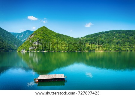 Perucac Lake View In Tara National Park, Serbia Stock photo ©