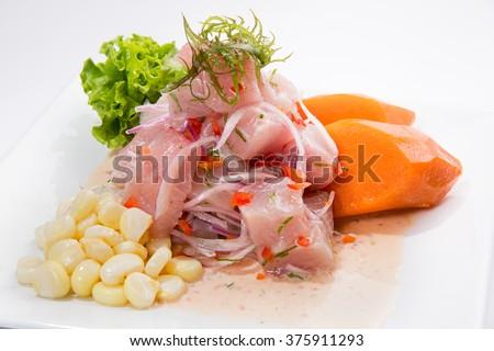 Shutterstock PERUVIAN CEBICHE DISH