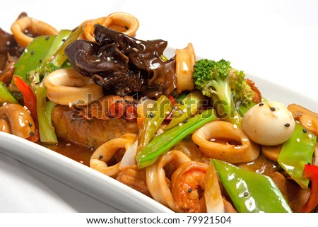 "peruvian cuisine, ""chifa"" is a peruvian-chinese fusion food. - stock photo"