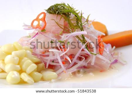 Peruvian culinary: Cebiche
