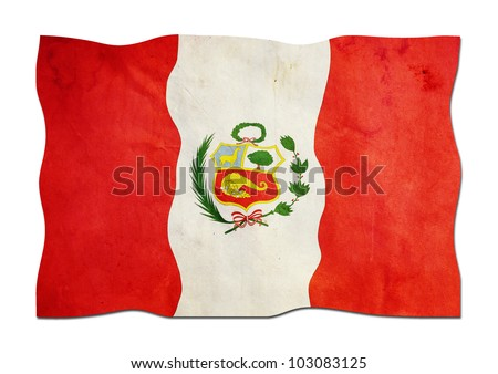 Peruvian Flag made of Paper