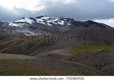 Peruvian Mountain Contours #750380920
