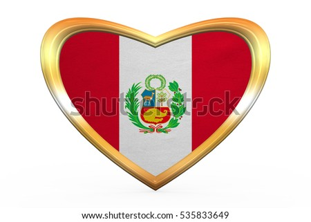 Peruvian National Official Flag Patriotic Symbol Banner Element