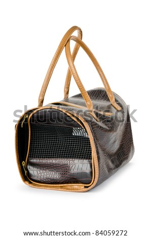 Pet bag for cats and dogs on white