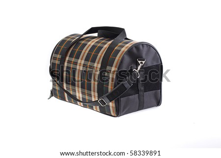 Pet carry case isolated on white