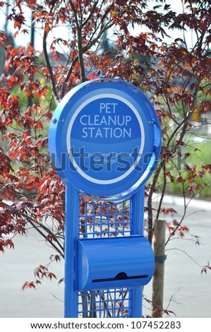 Pet cleanup station