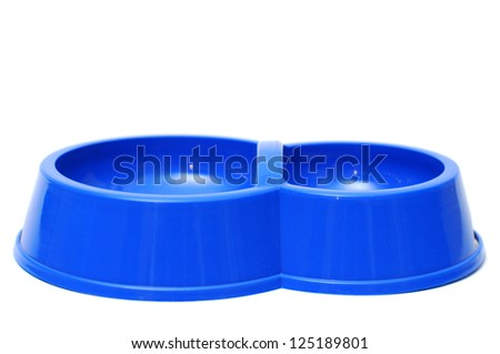 pet food bowl on a white background