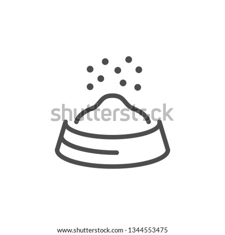 Pet food line icon isolated on white