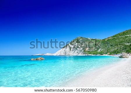 Petani beach, Kefalonia, Greece.