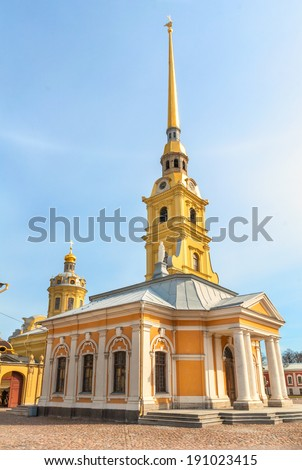 Peter and Paul Church in Peter and Paul\'s Fortress