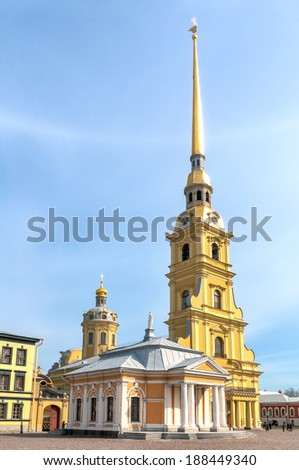 Peter and Paul Church in Peter and Paul\'s Fortress, St Petersburg, Russia
