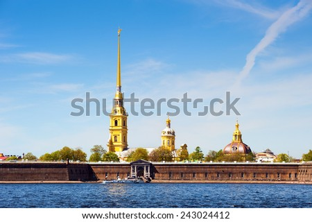 Peter and Paul Fortress, across the Neva river, St. Petersburg, Russia