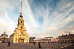 Peter and Paul Fortress. Petropavlovskaya Krepost. Citadel of St. Petersburg, Russia