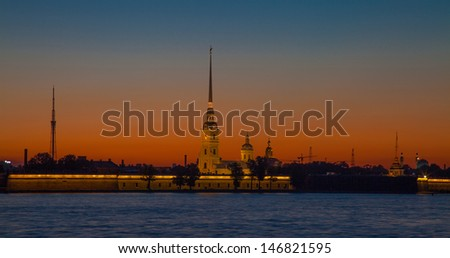Peter and Paul Fortress Saint Petersburg - The White Nights