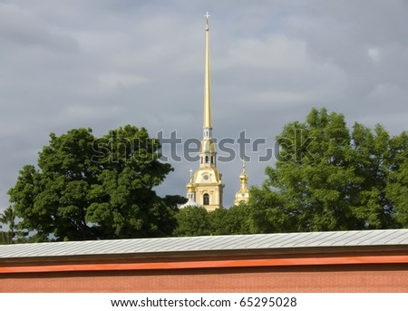 Peter and Paul Fortress spike. St.-Petersburg.