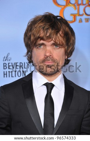 Peter Dinklage at the 69th Golden Globe Awards at the Beverly Hilton Hotel. January 15, 2012  Beverly Hills, CA Picture: Paul Smith / Featureflash