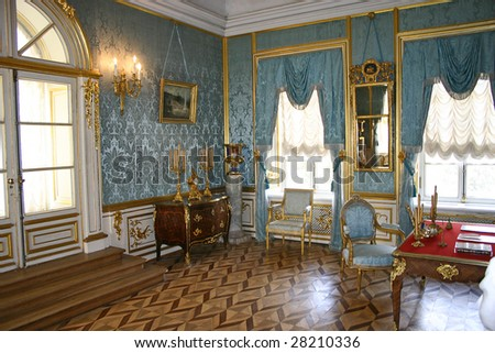 Petersburg, Peterhof, blue reception room