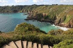 Petit Bot Bay from Icart Point on Guernsey