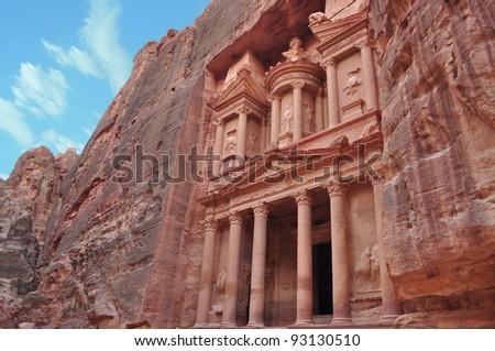 Petra,the treasury - stock photo