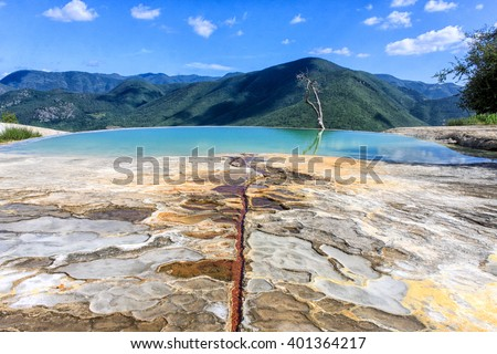 Petrified waterfalls, Hierve el Agua, Mexico