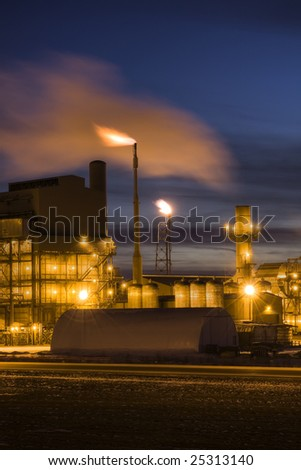 Petro Chemical Refinery at Night