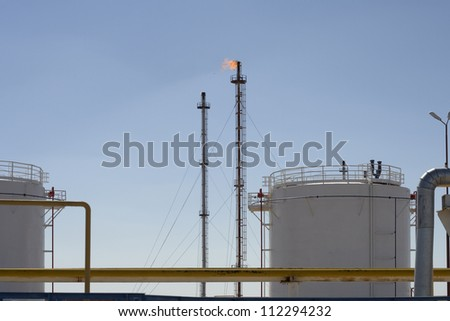 Petrochemical and gas plant