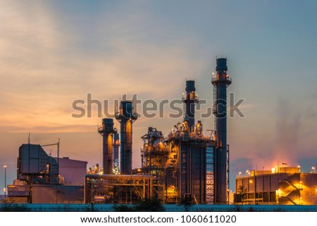 Petrochemical Industrial and power plant energy at night #1060611020