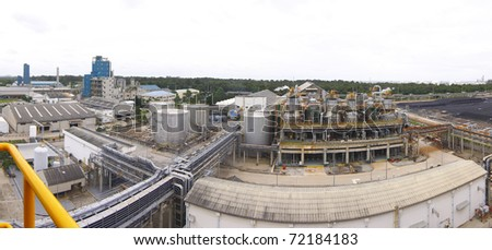 Petrochemical plant in panorama view