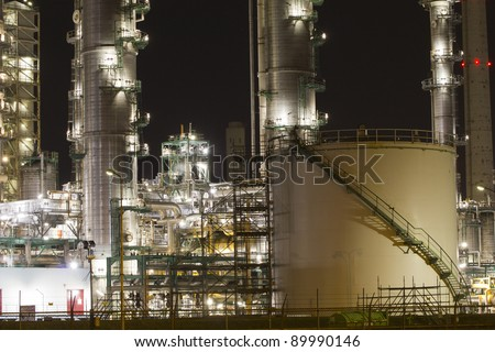 Petrochemical-tanks situated in the Botlek area, Rotterdam, The Netherland