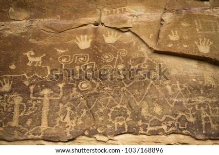 Petroglyphs at Mesa Verde National Park, Colorado