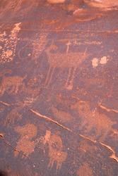 Petroglyphs, Courthouse Wash Rock Art, Moab Canyon, Moab, Arches National Park, Colorado Plateau, Utah, Grand County, Usa, America