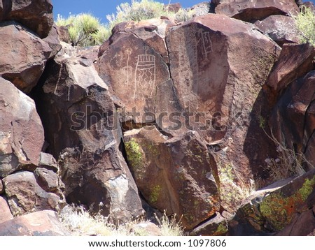 Petroglyphs in central California
