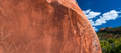 Petroglyphs of the Fremont Culture of Utah state of The United States of America, North America
