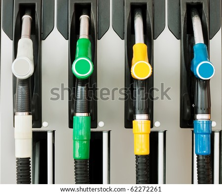 Petrol / gas station detail - four nozzles