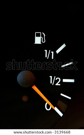 Petrol meter showing no gas in  the tank