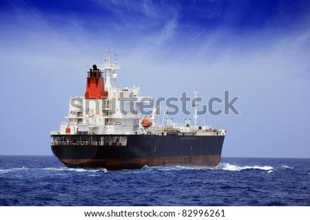 Petrol tanker sailing