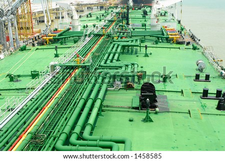 Petroleum pipes on a vessel