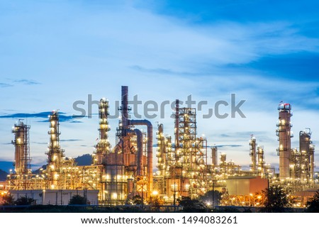 Petroleum​ plant​ industry​ at​ blue​ sky​ background​ #1494083261