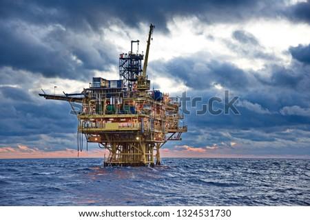 Petroleum platform at seaPetroleum platform at sea #1324531730