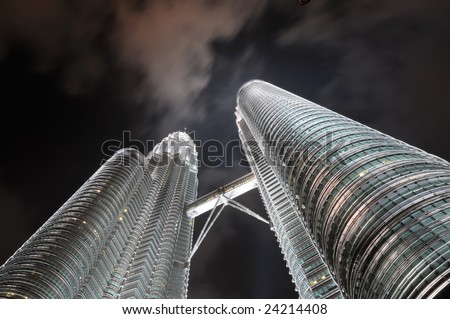 Petronas Towers in KL at night