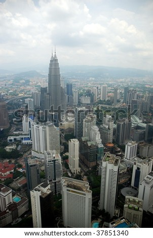Petronas Towers viewed from KL Tower