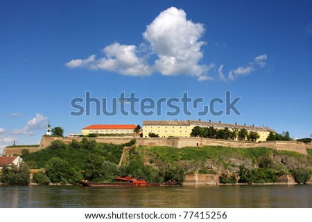 Petrovaradin Fortress and Danube river in Novi Sad, Serbia