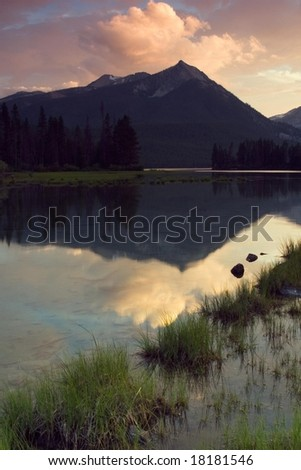 Pettit Lake Sunset, Sawtooth National Recreation Area, Idaho