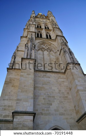 Pey-Berland bell tower, next to Saint André Cathedral, Bordeaux, France