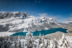 Peyto Lake with reflection at Banff National Park, Canada.