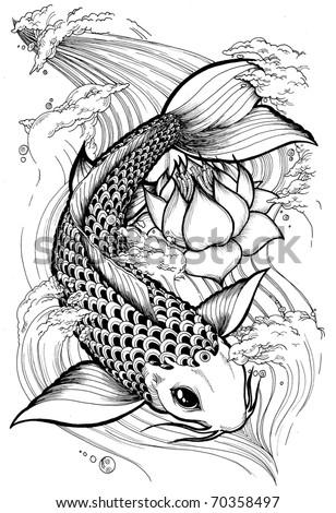 Japanese  Fish on Koi Fish 5 Color Koi Fish Vector Find Similar Images