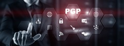 PGP. Pretty Good Privacy. Encryption and Security concept